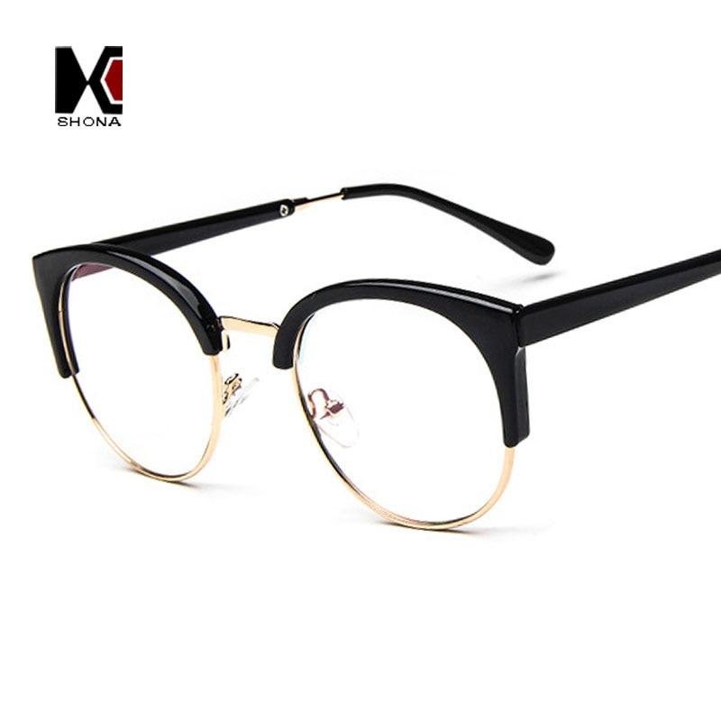 Half Frame Cat Eye Glasses