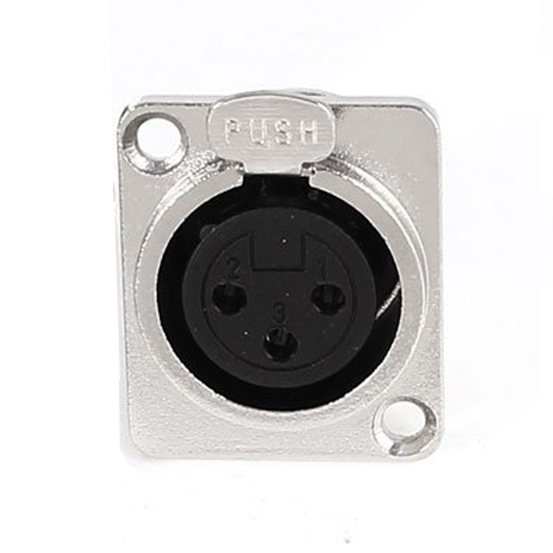 5 pcs XLR 3 pin female chassis panel mount socket silver black hongyang electrolytic capacitors black silver 190 pcs