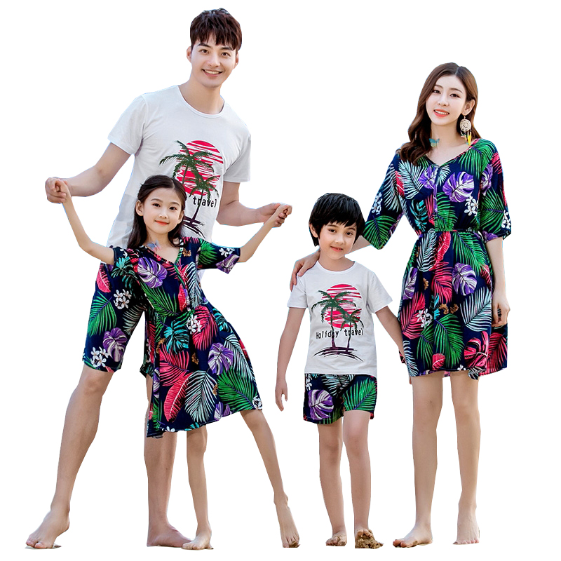 Summer season Household matching outfits mother daughter costume garments dad son units Lady Boy household look vacation 2019 Matching Household Outfits, Low cost Matching Household Outfits, Summer season Household...