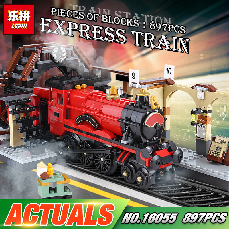 Lepin 16055 Harry Toys Potter The 75955 Hogwarts Express Set Building Blocks Bricks Train Model Kid Toys Birthday Christmas Gift