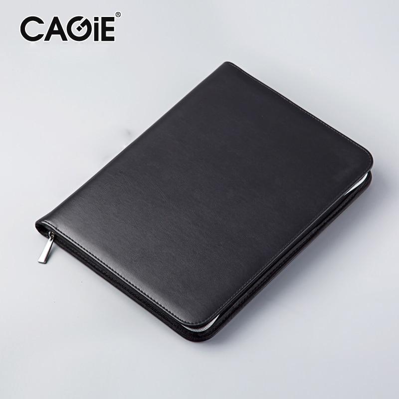 CAGIE Key Holder A4 File Zipper Folder Multifunction Real Estate Company Office Manager Folder Business Padfolio Bag dirk zeller success as a real estate agent for dummies