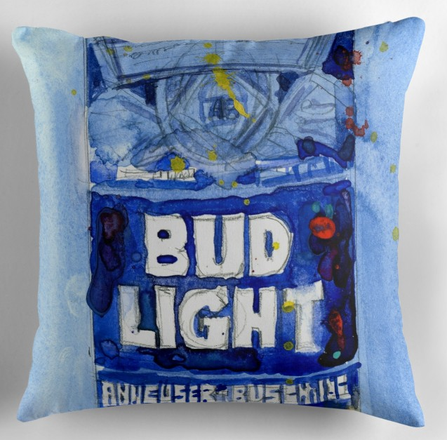 Bud Light Beer pillows Print pillow Case Cotton Made Pillowcase 45X45cm,55X55cm(Two side)