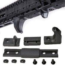 Tactical 4 Pcs/set Airsoft M-LOK Hand-Stop Kit Low-Profile Handle grip Handguard Grip for M-LOK MLOK Rail Cover BK