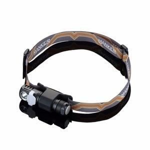 Image 5 - Налобный фонарь Manker E03H AA, светодиодный фонарь с реверсивным зажимом, CREE XP L / Nichia 219C, 350 лм