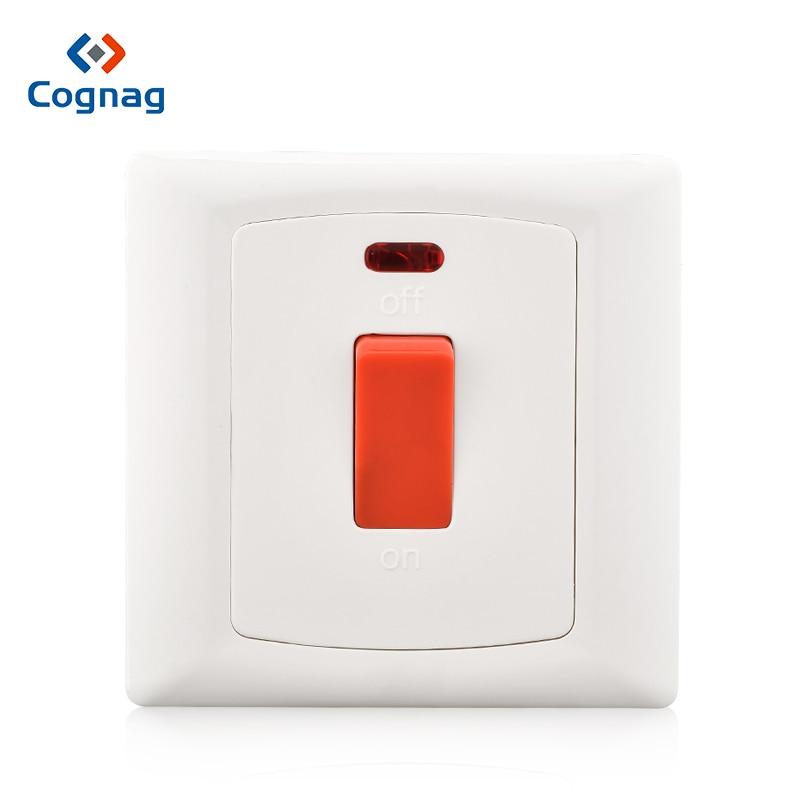 1 Gang Interruptor 20A//Neon conmutadores Nacional
