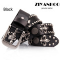New Fashion   wholesale Rock & roll fashion style men&women imported genuine leather  belt personal  rivet  strap   No:WA1311048