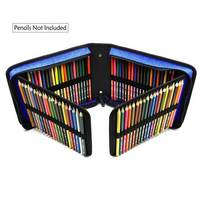 Bianyo 120 Holes Professional Canvas Bag Pencil Fold Case Set For Colored Pencil Storage Pouch Sketch