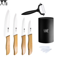 3 4 5 6 White Blade Bamboo Handle Ceramic Knife New Listing XYJ Brand Kitchen Knife