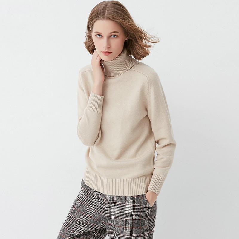 Swater Solid Female Knit Rib Beige gray Shoulder burgundy Collar Colors Pullover Turtleneck Blue Jumper 4 Cashmere Women midnight Sweaters Rabbit Wool Saddle Top w4AxqzxvaW