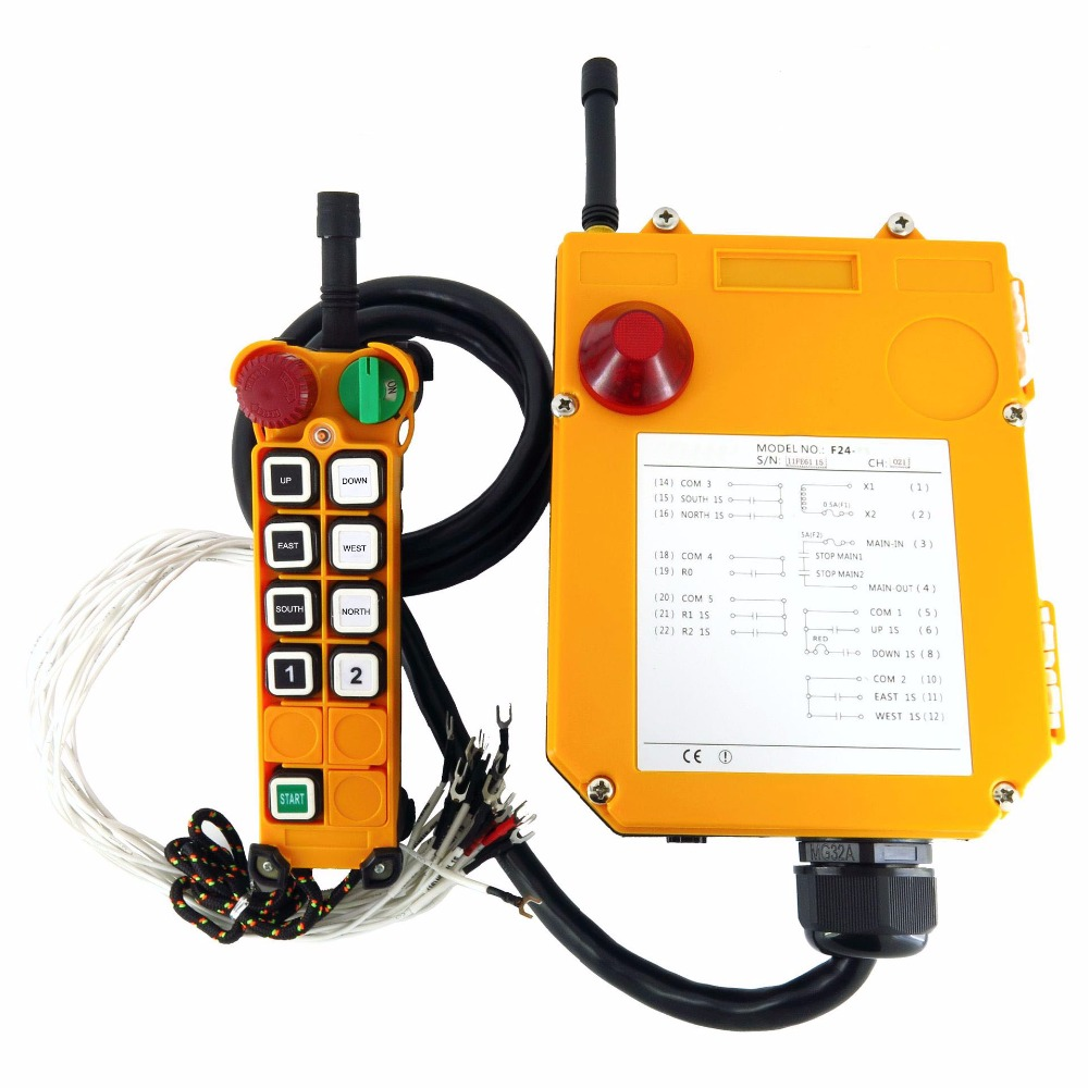 F24-8D(include 1 transmitter and 1 receiver)/8 buttons 2 Speed Hoist crane remote control wireless Uting remote control hoist crane remote control wireless radio uting remote control f21 e1b include 1 transmitter and 1 receiver 6 buttons 1 speed
