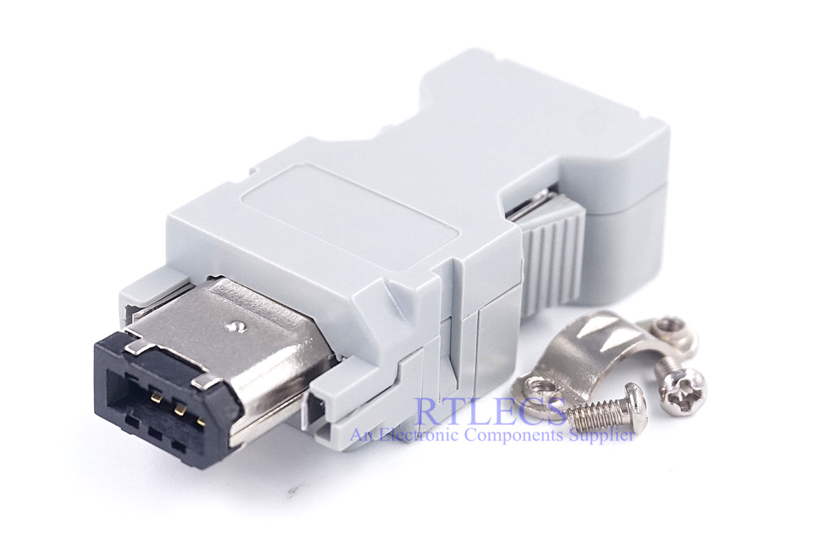 2pcs Wire Solder Type Female SM-6P 55100-0670 IEEE1394 For Delta Yasukawa & Molex Servo Receptacle 6 Position Encoder Connector