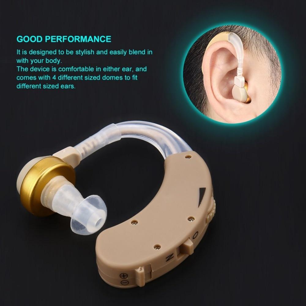 Ear Hearing Aid Kit Adjustable Behind Ear Sound Amplifier Sound Enhancer F-188 Freeshipping 2018 SELLING jecpp behind ear hearing aid kit with uv box adjustable hearing enhancement sound amplifier device sound enhancer kxw 212 hot