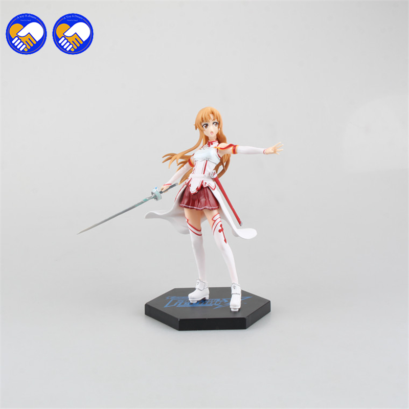 A toy A dream Action figure Sword Art Online 3 Asuna cartoon doll PVC 17cm box-packed japanese figurine world anime toys kids free shipping japanese anime sword art online asuna pvc action figure toy 22cm cute aincrad figure sofg003