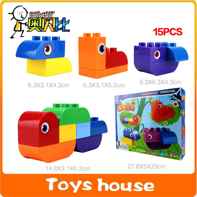 15PCS Building Blocks Kids Construction Toys Toddlers Models Toy Educational