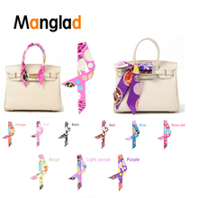 Handle Bag Decoration Ribbons Luxury Silk Twill Scarves for Women ornament Handbags Hanging Wrap Multi-function Scarf