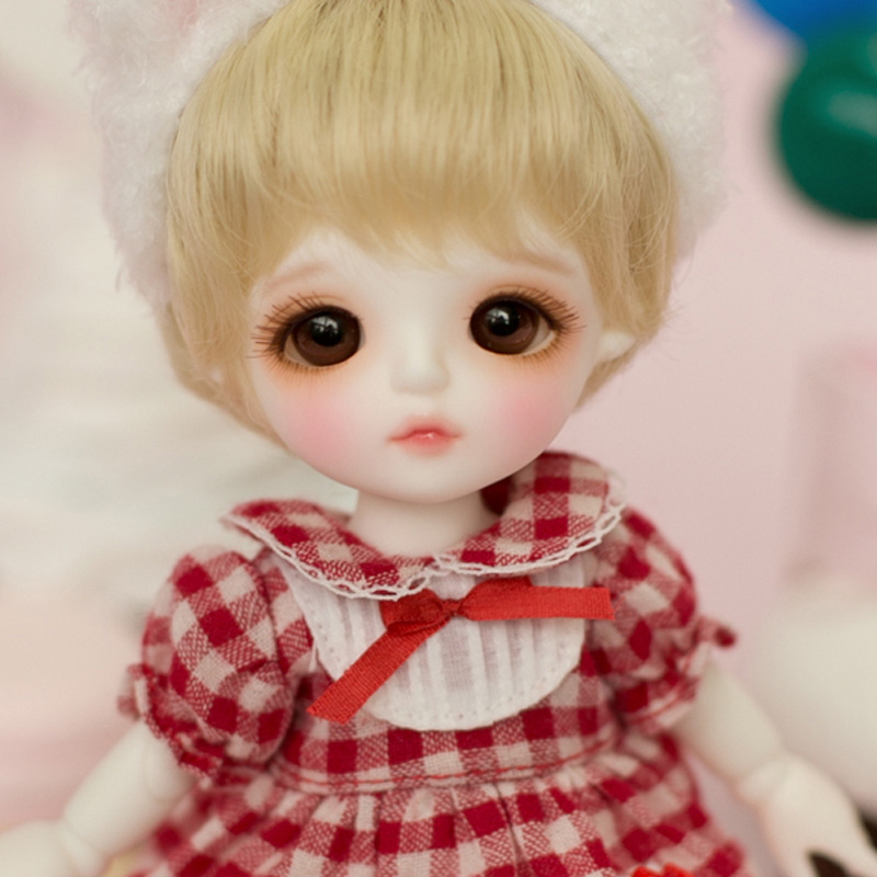 1/8 BJD Doll BJD/SD Cute Lovely Lina Baby Miu Resin Joint Doll With Glass Eyes For Baby Girl Birthday Gift 1 8 bjd doll bjd sd fashion cute miu with eyes for baby girl gift full set doll clothes shoes wig like picture