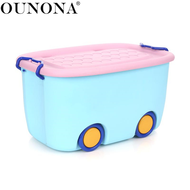 Stackable Latch Box Storage Containers Plastic Bins For Kids Baby Toys Clothes Books