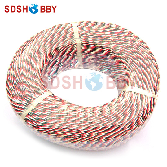 DIY Futaba /JR Color 22# 22AWG Servo Extension Cable/ Twisted Wire 100M/volume without Connector injora 1pcs 15cm 30cm rc servo extension y wire cable for jr futaba rc model