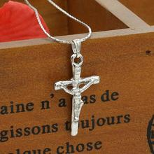 Christian Jewelry Vintage Cross Crucifix Jesus Pendant & Necklace