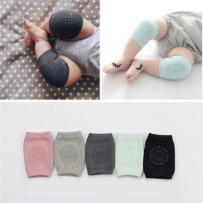 2Pairs/lot 0-3 yrs New Kids Infant Baby Cotton Thicken fashion Multifunction Crawling leg warmers Children boy girl Kneepad CN