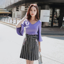 Skirt Ladies D18CSK024 Striped