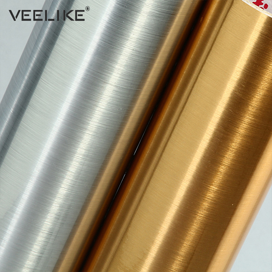 Silver Vinyl Stainless Steel Self Adhesive Wallpaper For Kitchen Appliance Peel And Sticker Shelf Liner Adhesive Contact Paper