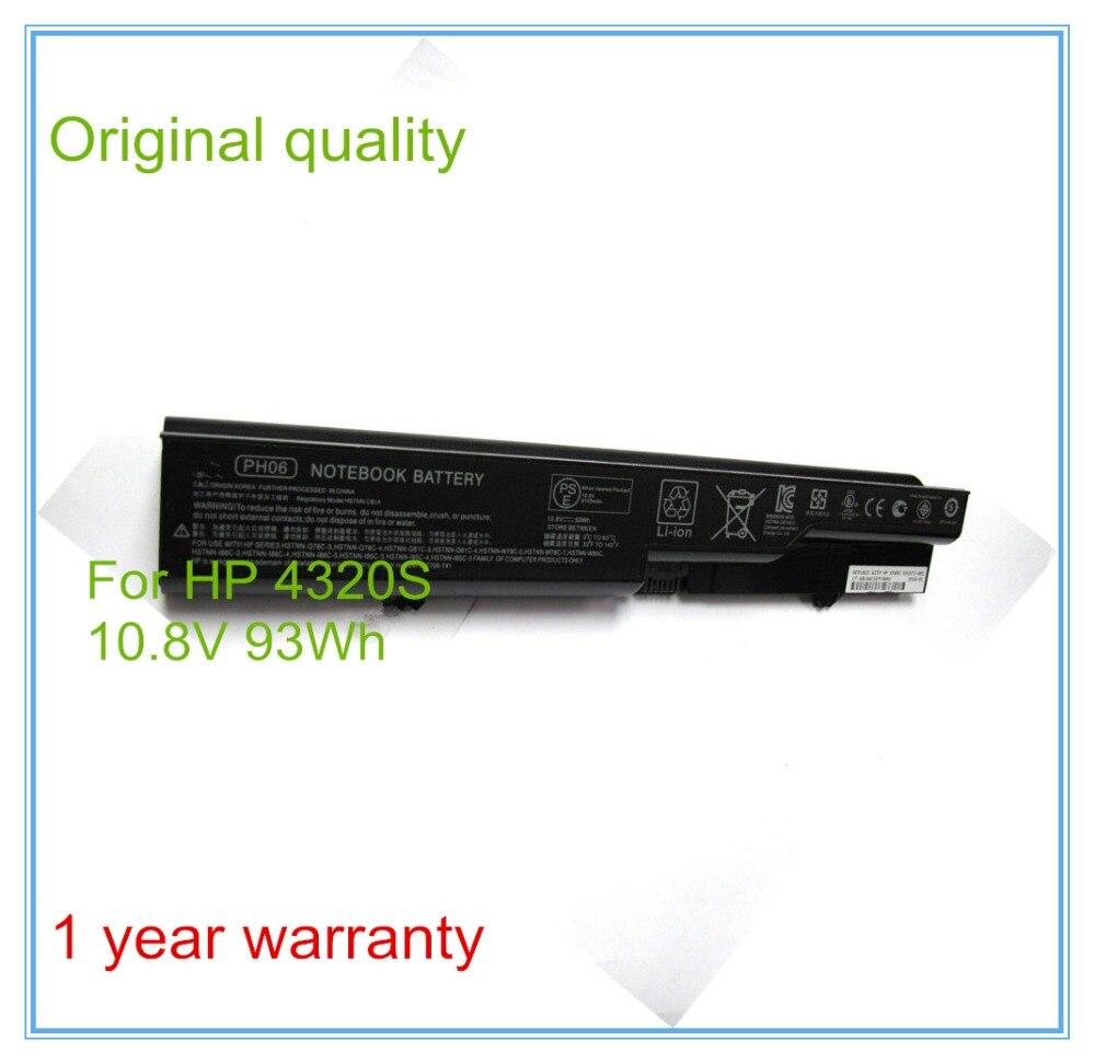 93Wh Original Laptop Battery for 4320s 4321s 4325s 4420s 4421s 4425s 4520s 4525s PH09 PH06 HSTNN-LB1B 9Cell labbra lb ph 99l