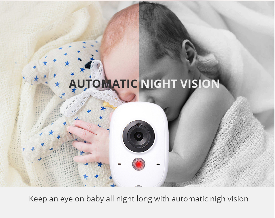 Image 5 - 3.2 Inch Baby Monitor Wireless Video Color Baby Nanny Security Camera Baba Electronic Night Vision Temperature Monitoring VB603-in Baby Monitors from Security & Protection