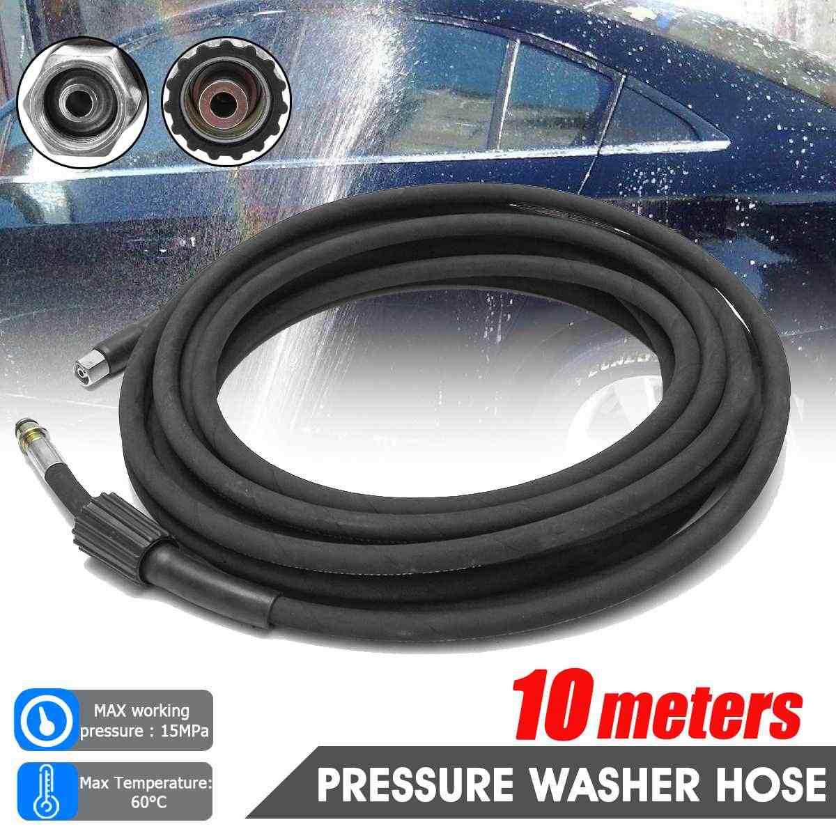 Audew Zwart 10 Meter Universele Hogedrukreiniger Slang Jet Car Home Power Wassen Wasmachine Extension Slang Cord Water Reinigen Slang