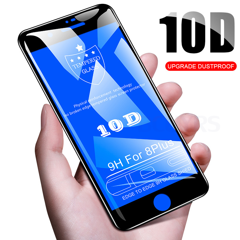 10d Anti-fingerprint Protective Glass For Iphone 7 8 X Xr Xs Max Screen Protector On For Iphone 5 X 6 6s 7 8 Plus Tempered Glass Vivid And Great In Style