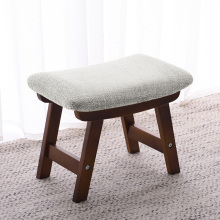 Твердый деревянный табурет домашняя Модная креативная обувь для взрослых скамейка Простая Современная прямоугольная низкая скамейка тканевый табурет