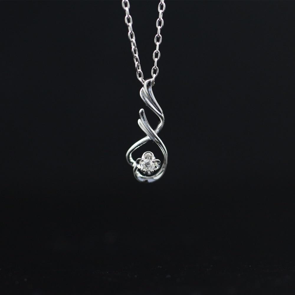 Halo 0.071CT 18k Gold Round Cut Square Center Pave Set Natural Diamond Pendant Necklace Chain Women Fine Jewelry