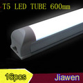 16pcs/lot LED tube t5 SMD3014 9W 600mm High power leds 850-900lm white cover two years warranty  free shipping