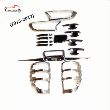 FIT FOR 2015-2017 ranger T7 XLl chrome front tail lamp Handle cover bowl cover rear trunk lid accessory accessories complete set