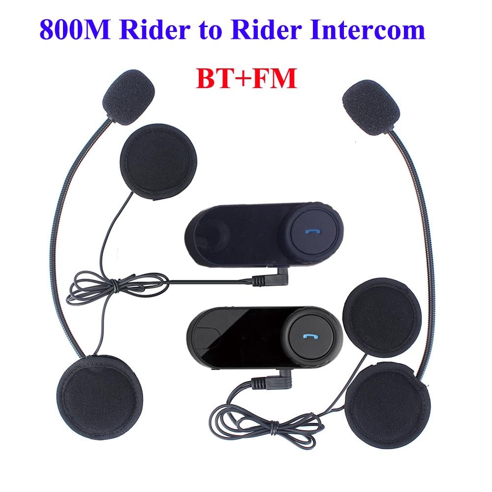 cheap 2pcs lot 800m riders intercom wireless bluetooth motorcycle interphone headset with fm. Black Bedroom Furniture Sets. Home Design Ideas
