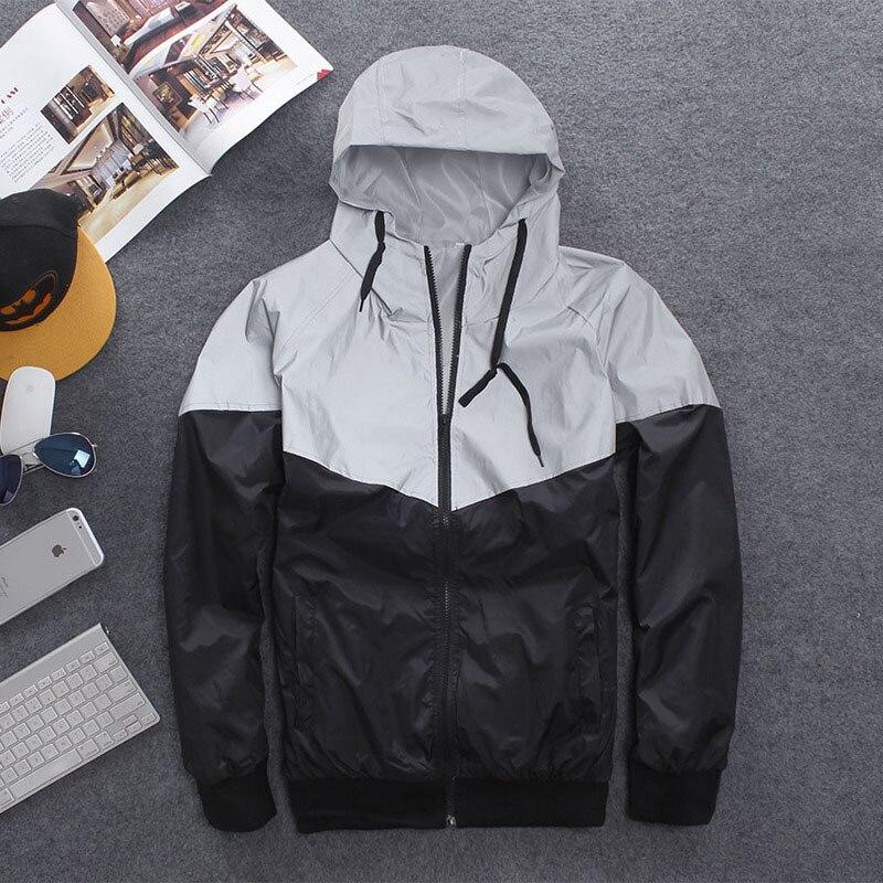남자 재킷 캐주얼 힙합 반사 자켓 의류 야외 밤 재킷 - 남성 의류 - 사진 2