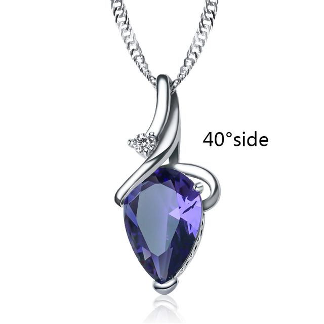 SHUANGR Women 3 Colors Crystal Rhinestone Drop Silver Color Chain Necklace Pendant For Women Jewelry Statement Bijouterie Gift 5