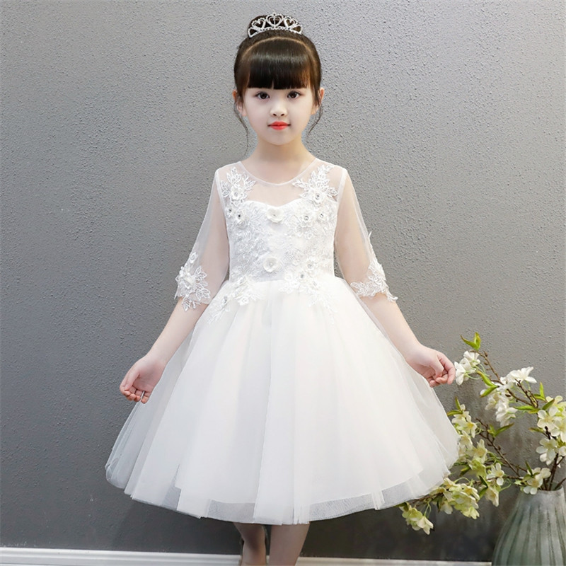 2f4a3b230 2018 Summer New Children Kids Snow White Color Birthday Wedding ...