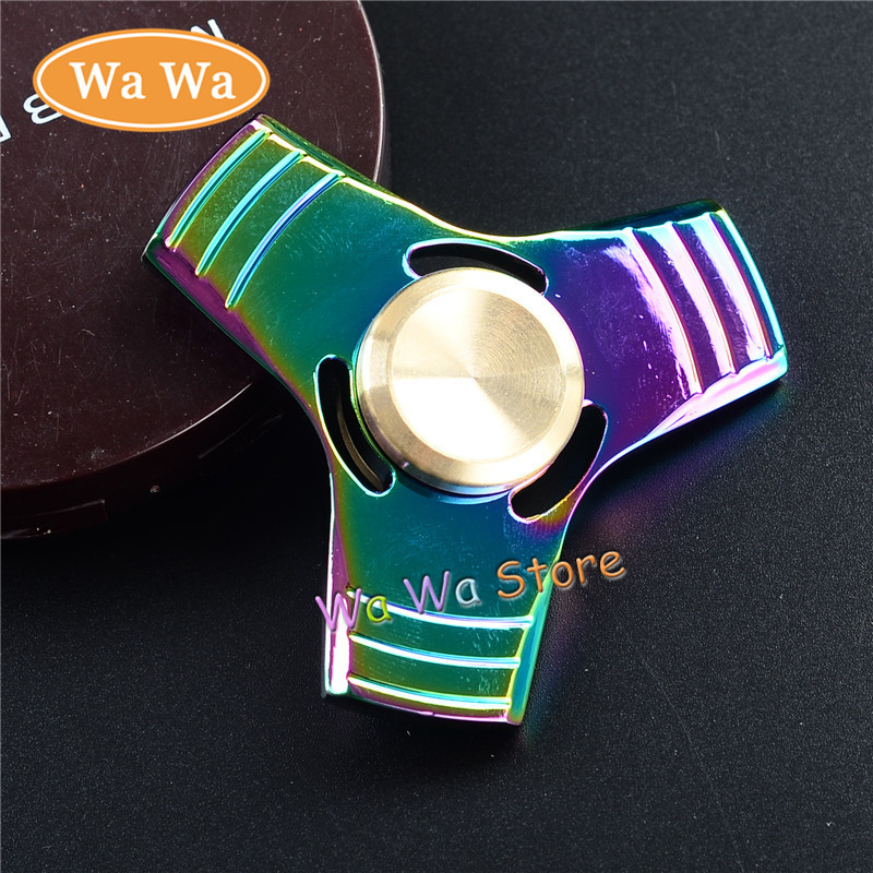 Fidget Spinner and ADHD Children Adults Toy EDC Toys Professional Tri Spinner Fidget Toy Pattern Hand
