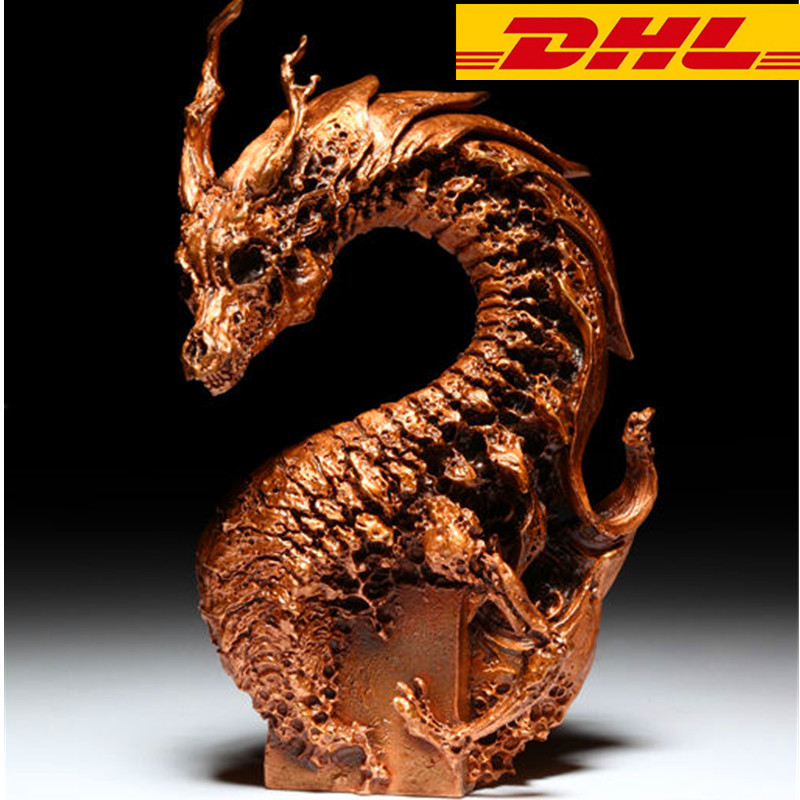 The New Bronze Wyrmling Statue Money Drawing Exquisite Faucet Crafts Divine power Home Decoration Collectible Model Toy T105 berkley power honey worms bronze