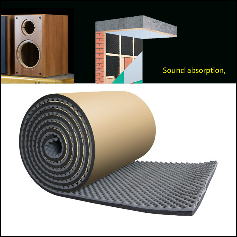 GHXAMP 0.2M*1Meter Sound Absorbing For Speaker Cotton Bookshelf Bass Home Theatre Wave Cotton Self-adhesive Accessories