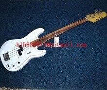 free shipping new Big John fretless electric bass guitar in white with across bridge F-3387