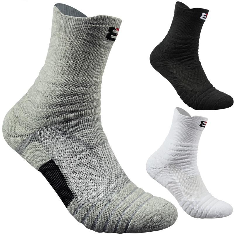 High Quality New Men Outdoor Sports Elite Basketball Socks Men Cycling Socks Compression Socks Cotton Towel Bottom Men's Socks