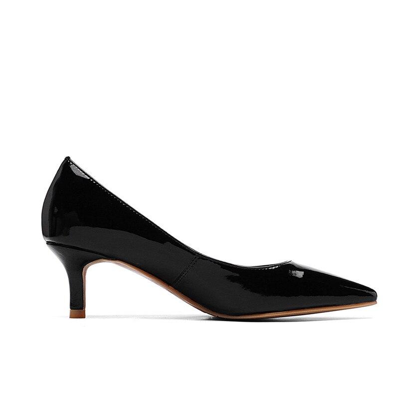 ASUMER كبير حجم 34 45 الأزياء مضخات النساء الأحذية وأشار اصبع القدم الضحلة الكعب العالي حقيقية أحذية من الجلد أنيقة أحذية الزفاف-في أحذية نسائية من أحذية على  مجموعة 2