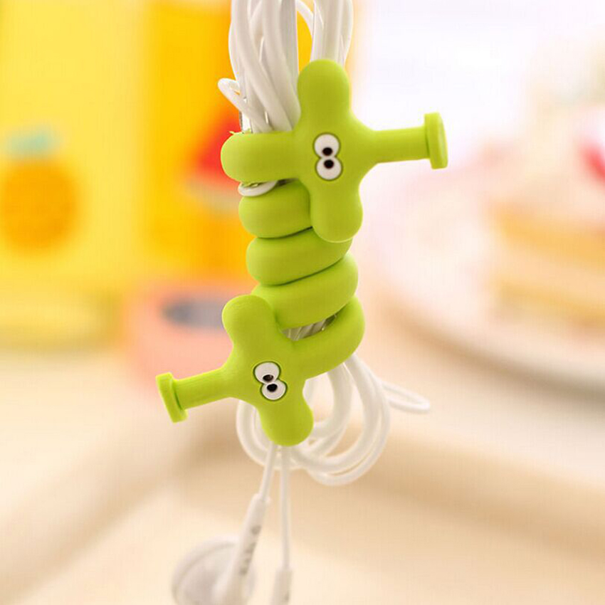 Funelego 1 5 Pieces Lot USB Cord Winder Earphone Wire Protector Cartoon Animal Style Organizer D17 Model Data Cables Management
