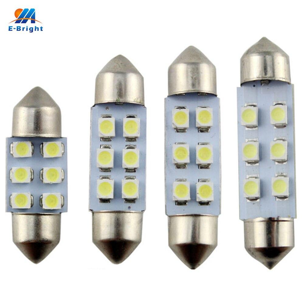 YM E Bright 500PCS C5W 31mm 36mm 39mm 41mm white 1210 3528 6 LED Festoon Dome