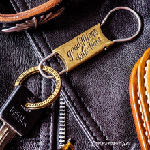 Coppertist.Wu Vintage Handmade Brass keychain Original Design Key ring Retro style Hook fashion Keyring Chain Pendant