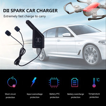 3 in 1 Car Charger Battery Charging & USB Port Remote Control 2 Cable Charge For DJI Spark Accessories