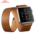 Laopijiang applewatchband iwatchband Leather Apple watches with casual men and women 38mm
