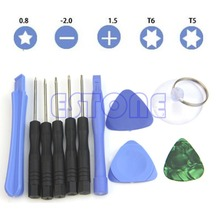 11 In 1 Mobile Repair Opening Tool Kit Set Pry Screwdriver For Phone Universal H02